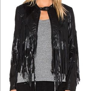Fringe Moto Jacket Faux Leather Revolve Blank NYC